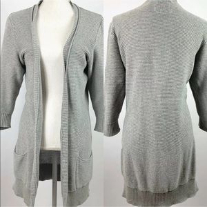 American Eagle Cardigan 1/2 Sleeve Gray Loose Knit